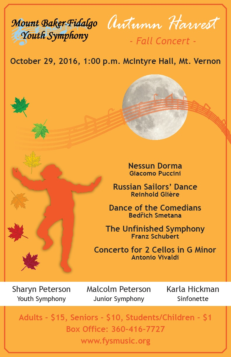 Fidalgo Youth Symphony performs October 29